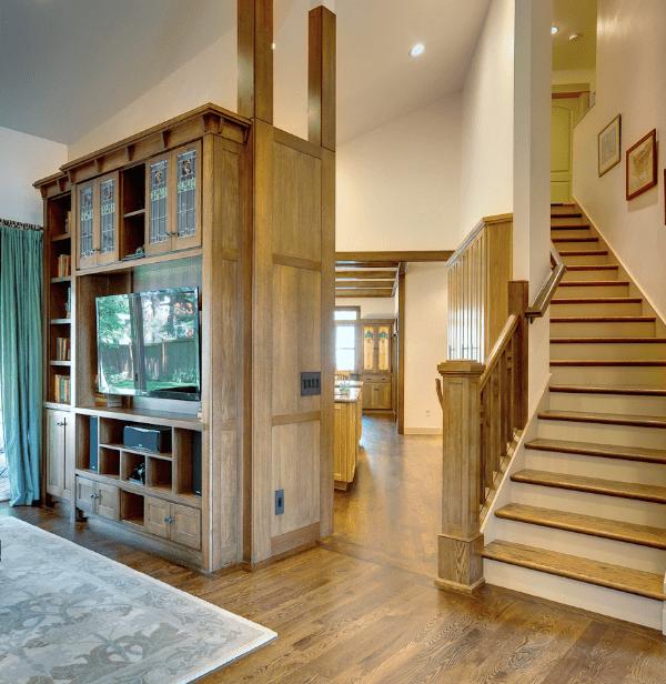 custom living room stairwell remodel robert havas carpentry