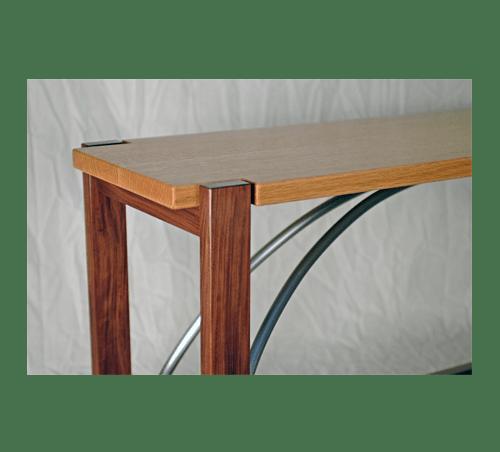 narrow wood table custom robert havas