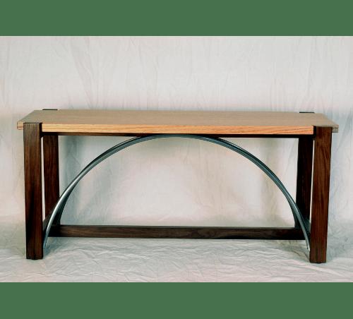 wood and metal table custom woodworking robert havas
